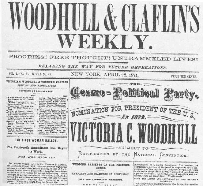 Image result for victoria woodhull campaign