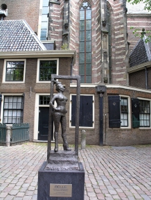 Sex worker statue in Amsterdam.