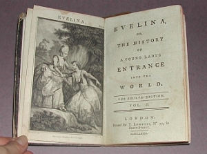 Title page of Evelina