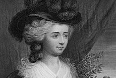 Engraving of Fanny Burney