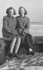 Janet and Adele Mongan Rockaway Beach, NY 1945