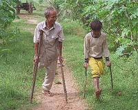 Victims of landmines
