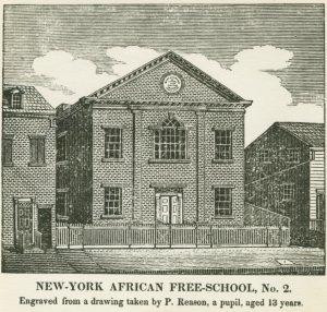 engraving of African Free School