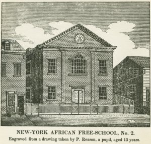 engraving of African Free School