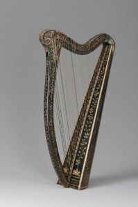 19th century Irish harp in the Boston Museum
