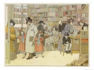 19th century bookstore. Picture by Francis Bedford