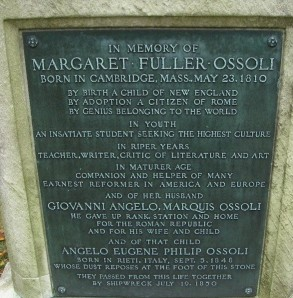Memorial plaque for Margaret Fuller