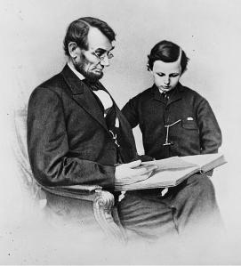Abraham Lincoln and his young son