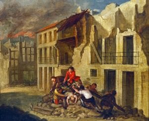 Rescue during the Lisbon earthquake 1755