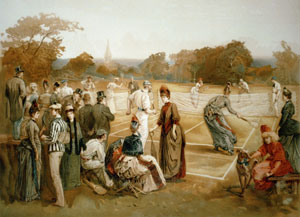 Tennis match in 1874