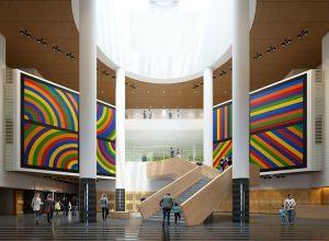 Atrium of S.F. Museum of Modern Art