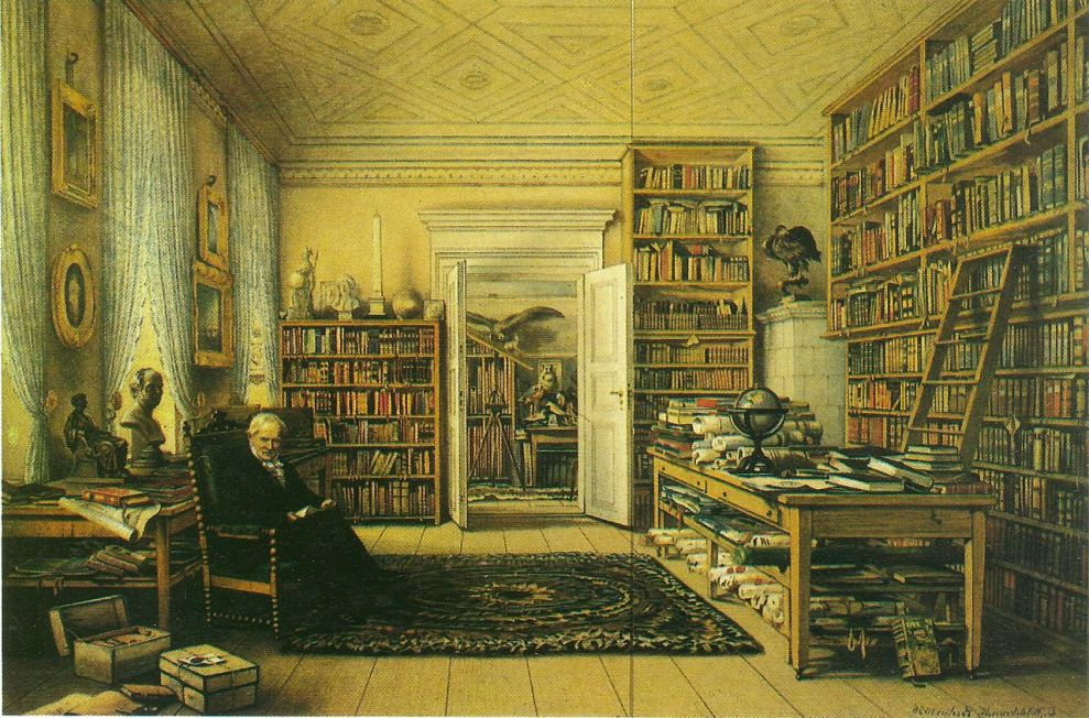 Humboldt in his library
