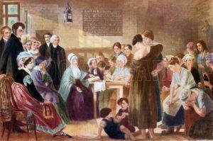 Elizabeth Fry visiting Newgate Prison